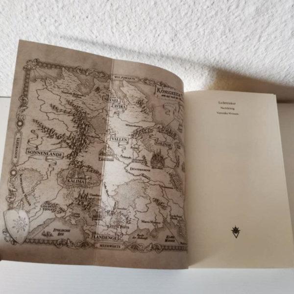Innenseite Fantasykarte Buch