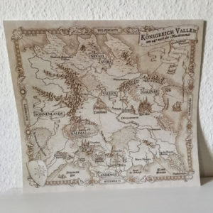 Königreich Vallen Fantasykarte