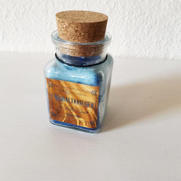 Buchkerze blau