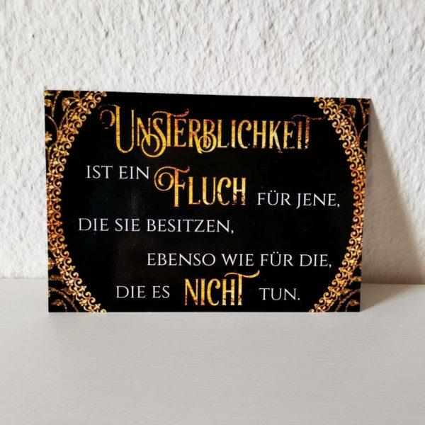 Postkarte Unsterblichkeit Zitat